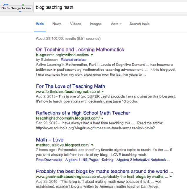 blog teaching math